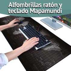 Imagen de Alfombrillas ratón y teclado Mapamundi