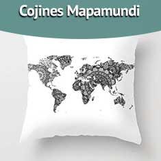 Imagen de Cojines Mapamundi