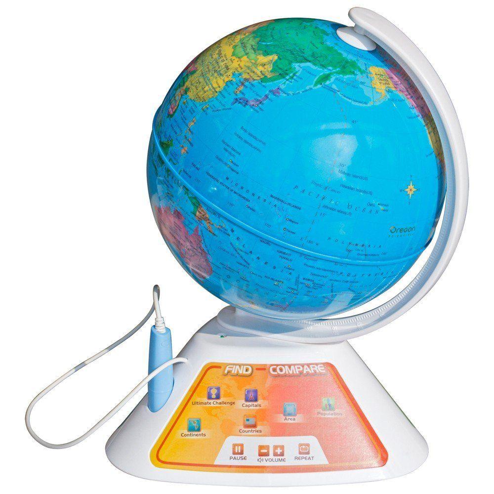 Foto de la bola del mundo interactiva educativa