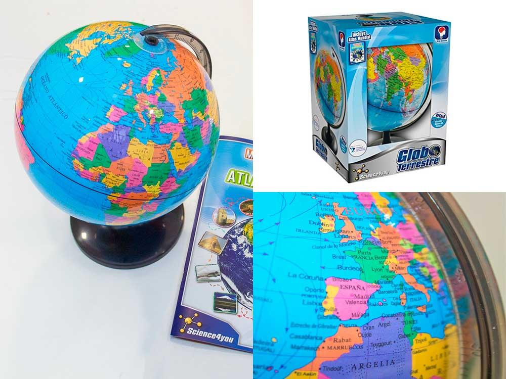 Fotografia del globo terraqueo interactivo scienci4you