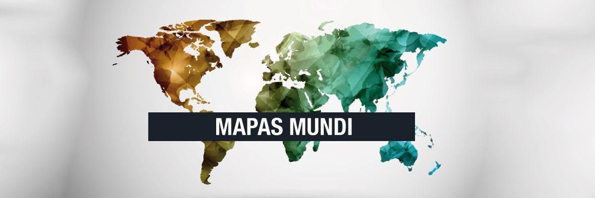 Fotografia de mapamundi magnéticos