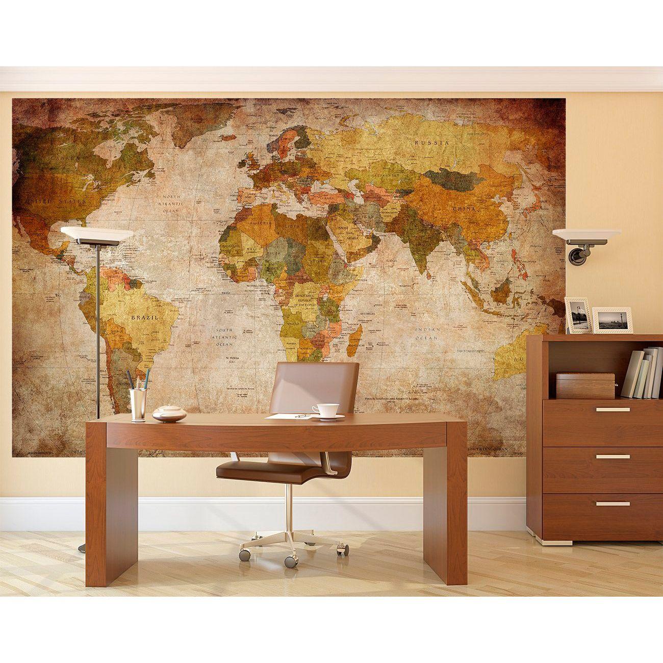 Mapa mundi murales decorativos y educativos - Papel pintado mapamundi ...
