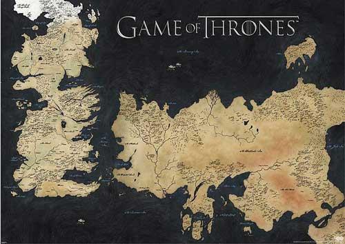 Fotografía de un Poster Siete Reinos  en Juego de Tronos.