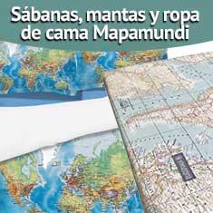 Fotografía de Sábanas, mantas y ropa de cama Mapamundi
